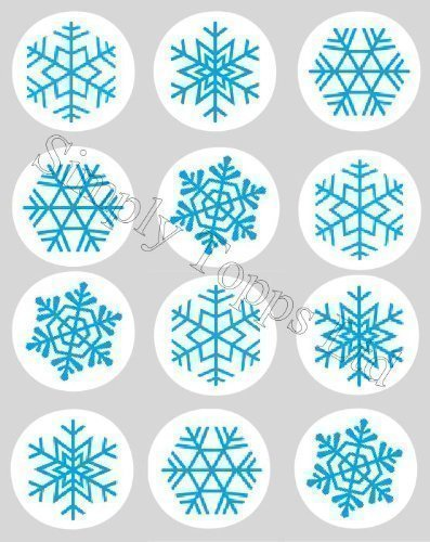 12 flocon de neige bleu no l motif no l papier de riz f e cup cake 40mm toppers pr d coup. Black Bedroom Furniture Sets. Home Design Ideas
